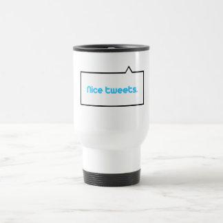 Nice tweets 15 oz stainless steel travel mug