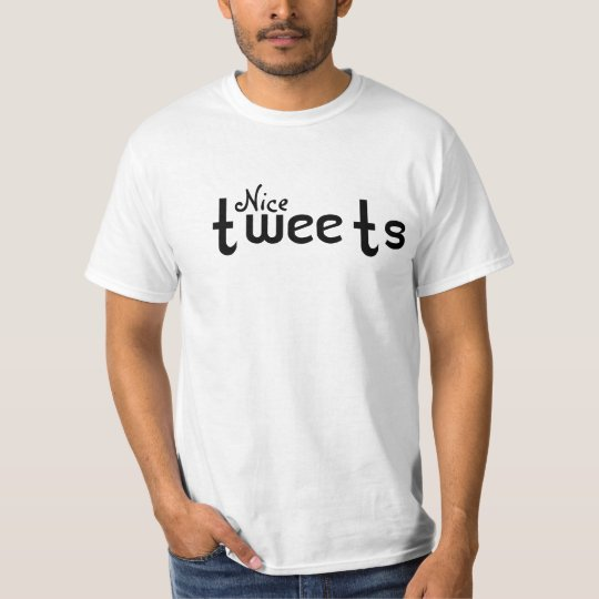 Nice tweets tee for hm/her blk on white