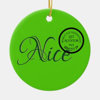 Nice Verified World Elf Federation Gratitude Ceramic Ornament