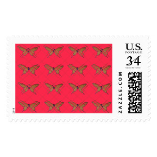 Nice Vintage Butterfly Tiles Designs art Postage