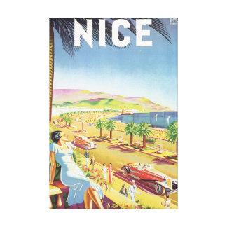 Nice Vintage Travel Poster Canvas Print