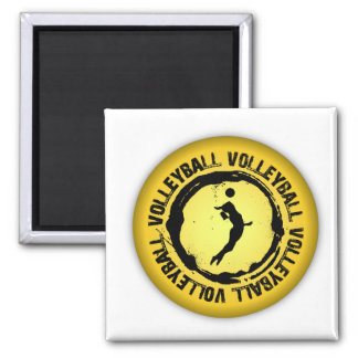 Nice Volleyball  Seal (Female) 2 Inch Square Magnet