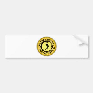 Nice Volleyball  Seal (Female) Bumper Sticker