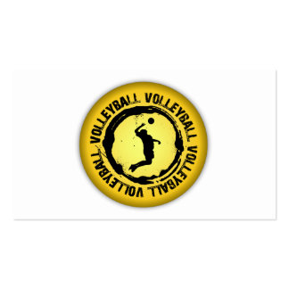 Nice Volleyball Seal Male Business Card