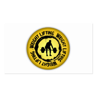 Nice Weight Lifting Seal Business Card