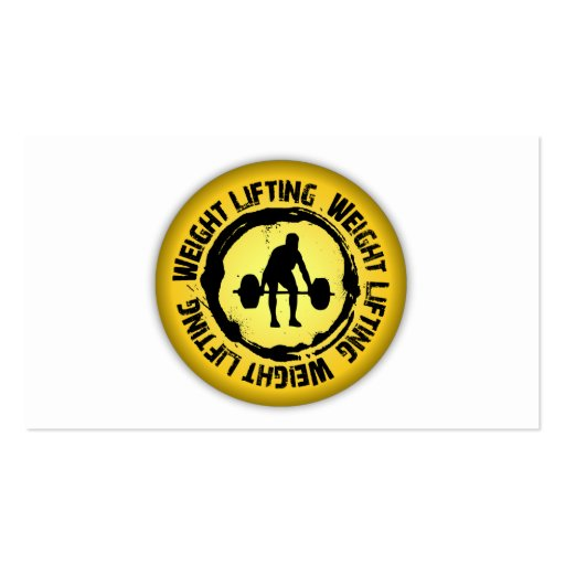 Nice Weight Lifting Seal Double-Sided Standard Business Cards (Pack Of 100)