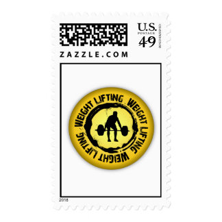Nice Weight Lifting Seal Postage Stamp