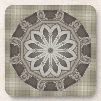Nice White and Gray Flower Coaster