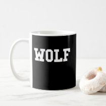 Nice Wolf Print Coffee Mug