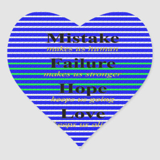 Nice Wording Images Heart Sticker