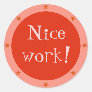 Nice Work - Teacher Sticker Series