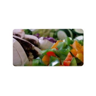 Nicely chopped mixed vegetables personalized address label
