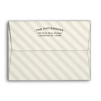 Nicely Neutral Classic Stripe Beige Envelope