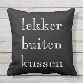 Nicely outside kissing Outdoor 2 colours kiss Throw Pillow