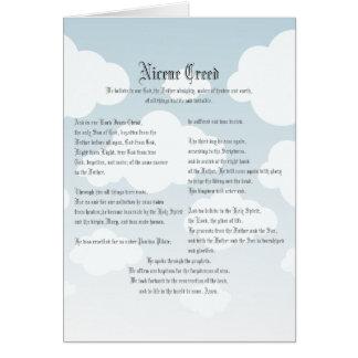 Nicene Creed Card
