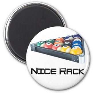 NiceRack Black 2 Inch Round Magnet