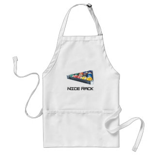 NiceRack Black Adult Apron