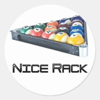 NiceRack Black Classic Round Sticker