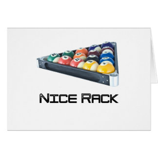 NiceRack Black Greeting Card