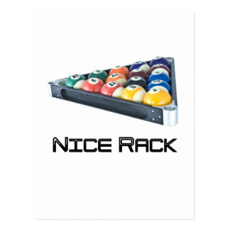 NiceRack Black Postcard