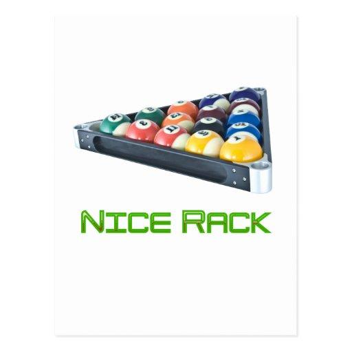 NiceRack Green Postcard