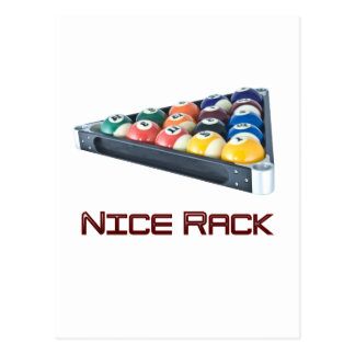 NiceRack Red Postcard