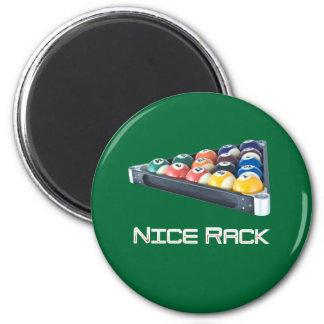 NiceRack White 2 Inch Round Magnet