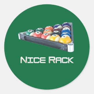 NiceRack White Classic Round Sticker