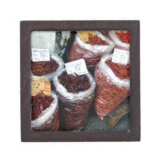 Nicey picante, chiles tailandeses cajas de regalo de calidad