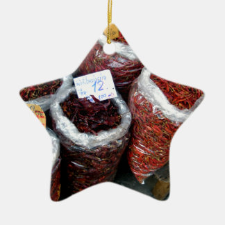 Nicey Spicy, Thai chilies Ceramic Ornament