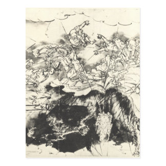 Nichiren saved from the executioners sword Utagawa Postcard