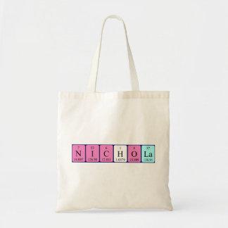 Nichola periodic table name tote bag