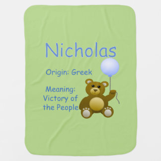 Nicholas  Baby Name Receiving Blanket