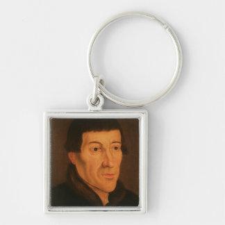 Nicholas Copernicus, c.1776 Llavero Cuadrado Plateado