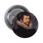 Nicholas Hilliard, autorretrato, 1577 Pin Redondo 5 Cm