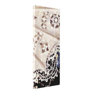Nicholas Hilliard - Lace collar Stretched Canvas Print