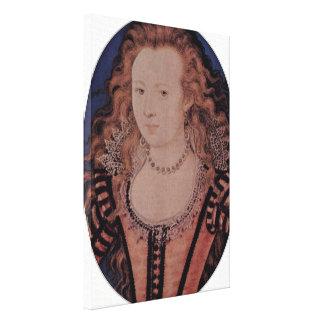 Nicholas Hilliard - reina de Elizabeth de Bohemia Impresion En Lona