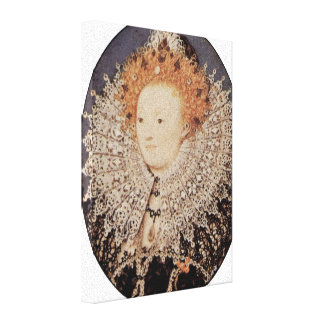 Nicholas Hilliard - reina Elizabeth I de Inglaterr Impresion De Lienzo