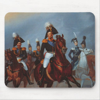 Nicholas I with his officers, 1835 Mouse Pad