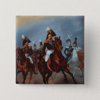 Nicholas I with his officers, 1835 Pinback Button