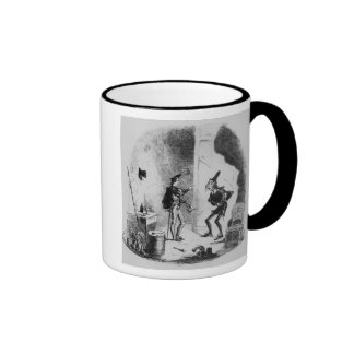Nicholas instructs Smike in the art of acting Ringer Mug
