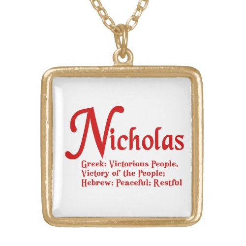 Nicholas Necklace