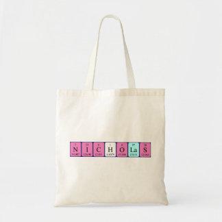 Nicholas periodic table name tote bag