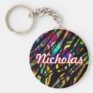Nicholas Personalized Colorful Keychain