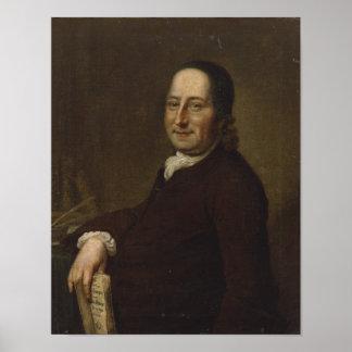 Nicholaus Luis Count von Zinzendorf Póster