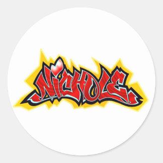 Nichole Classic Round Sticker