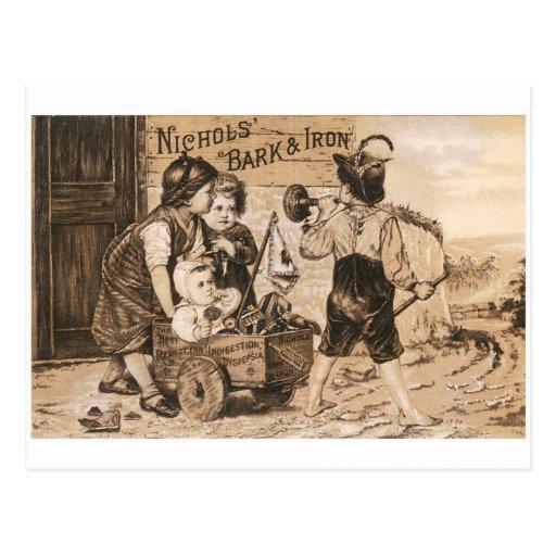 Nichol's Bark and Iron Postcard