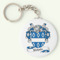 Nichols Family Crest Keychain