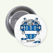 Nichols Family Crest Button