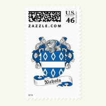 Nichols Family Crest Stamps
